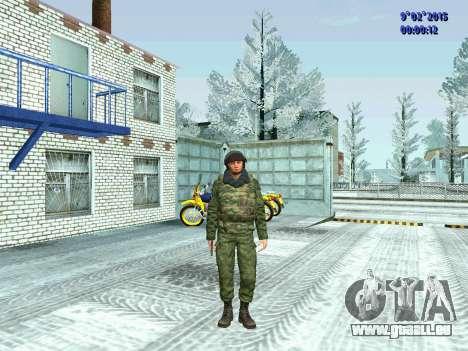Combattant de la MIA en hiver uniformes pour GTA San Andreas