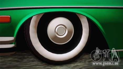 Mercedes-Benz 300 SEL DRY Garage pour GTA San Andreas sur la vue arrière gauche