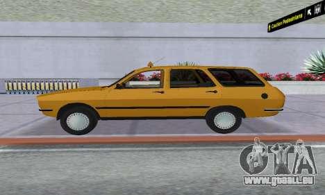 Renault 12 SW Taxi für GTA San Andreas zurück linke Ansicht