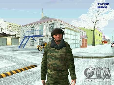 Combattant de la MIA en hiver uniformes pour GTA San Andreas troisième écran