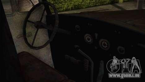 Opel Blitz (CoD: World at War) pour GTA San Andreas vue de droite