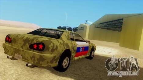Elegy 23 February pour GTA San Andreas vue de dessus