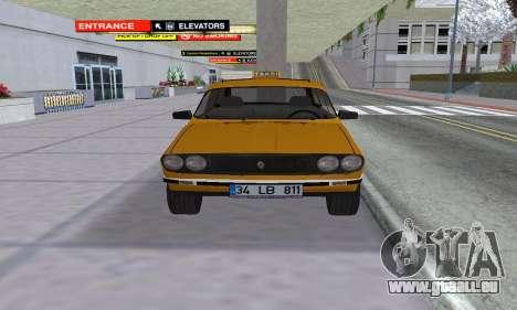 Renault 12 SW Taxi pour GTA San Andreas vue de droite