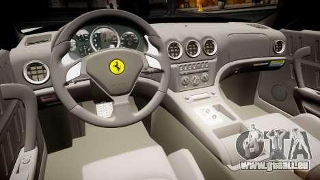 Ferrari 575M Maranello 2002 pour GTA 4 Vue arrière