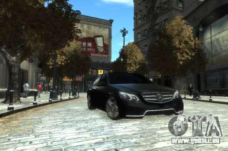 Mercedes-Benz E63 W212 AMG pour GTA 4 est une gauche
