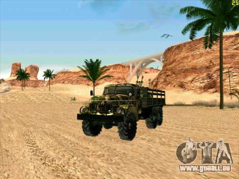 ZIL 131 Shaitan Arba pour GTA San Andreas laissé vue