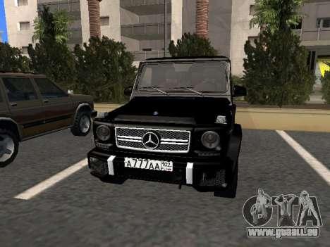 Mercedes-Benz G63 AMG pour GTA San Andreas laissé vue
