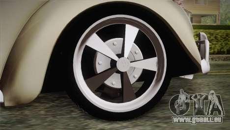 Volkswagen Fusca 1974 pour GTA San Andreas sur la vue arrière gauche