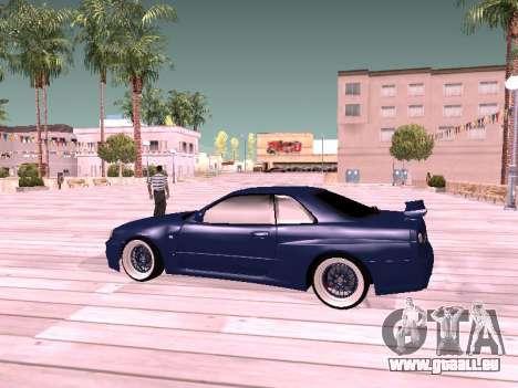 Nissan Skyline pour GTA San Andreas sur la vue arrière gauche