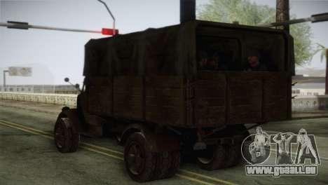 Opel Blitz (CoD: World at War) pour GTA San Andreas laissé vue