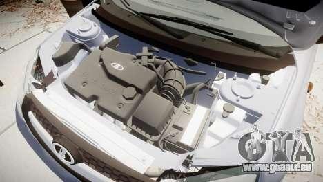 VAZ-2194 Lada Kalina 2 rims1 pour GTA 4 Vue arrière