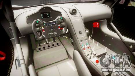 McLaren MP4-12C GT3 Haruhi Itasha pour GTA 4 Vue arrière