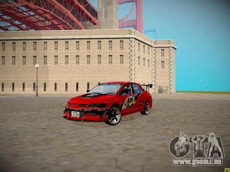 Mitsubishi Lancer Tokyo Drift für GTA San Andreas Innenansicht