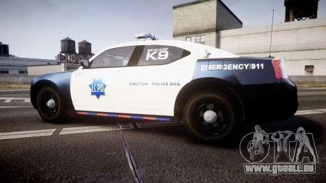 Dodge Charger 2010 LCPD K9 [ELS] für GTA 4 linke Ansicht