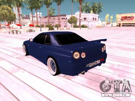 Nissan Skyline pour GTA San Andreas laissé vue
