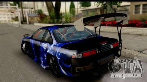 Nissan Silvia S14 Kouki Skin pour GTA San Andreas laissé vue