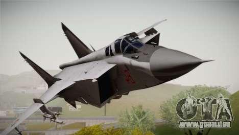 MIG 31 Estovakian Air Force für GTA San Andreas Rückansicht
