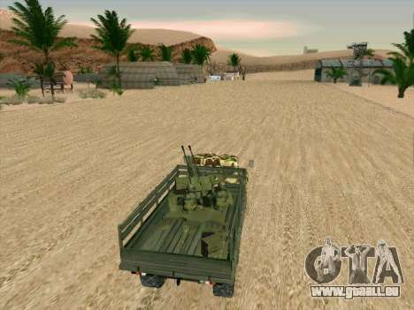 ZIL 131 Shaitan Arba für GTA San Andreas obere Ansicht