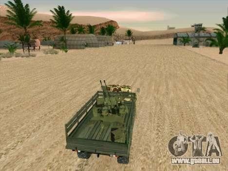 ZIL 131 Shaitan Arba pour GTA San Andreas vue de dessus
