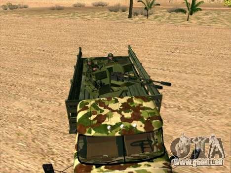 ZIL 131 Shaitan Arba pour GTA San Andreas vue de droite