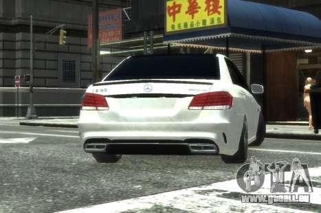 Mercedes-Benz E63 W212 AMG pour GTA 4 Vue arrière