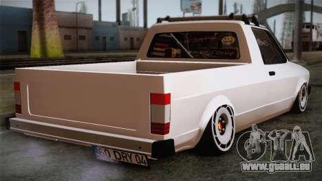 Volkswagen Caddy DRY Garage pour GTA San Andreas laissé vue