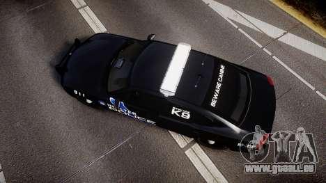 Dodge Charger 2010 Police K9 [ELS] für GTA 4 rechte Ansicht