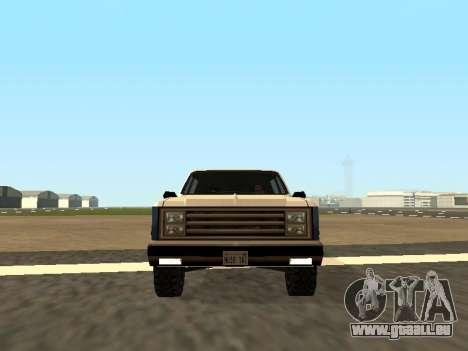 Rancher Four Door pour GTA San Andreas vue de droite