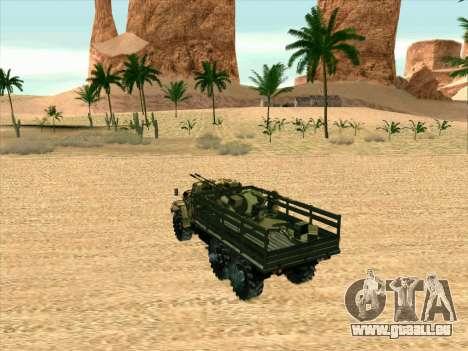 ZIL 131 Shaitan Arba für GTA San Andreas Rückansicht