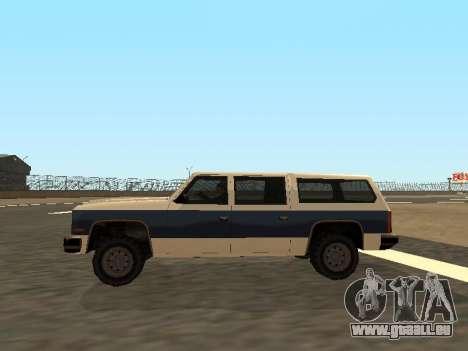 Rancher Four Door pour GTA San Andreas vue intérieure