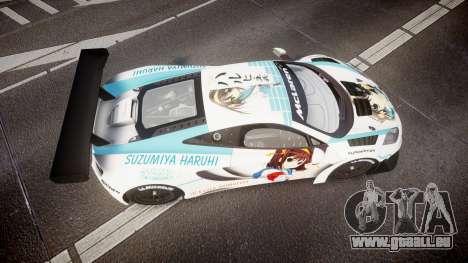 McLaren MP4-12C GT3 Haruhi Itasha für GTA 4 rechte Ansicht