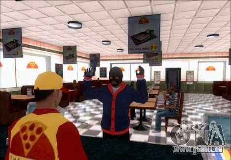 Franklin (le Voleur) de GTA 5 pour GTA San Andreas deuxième écran
