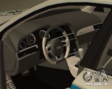 Audi RS6 Combi Police Czech Republic pour GTA San Andreas vue de droite