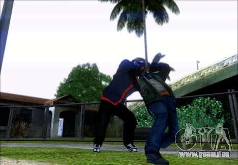 Franklin (le Voleur) de GTA 5 pour GTA San Andreas troisième écran