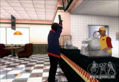 Franklin (le Voleur) de GTA 5 pour GTA San Andreas quatrième écran