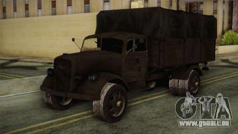 Opel Blitz (CoD: World at War) für GTA San Andreas