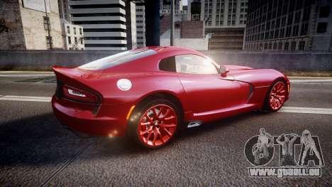 Dodge Viper SRT 2013 rims1 pour GTA 4 est une gauche