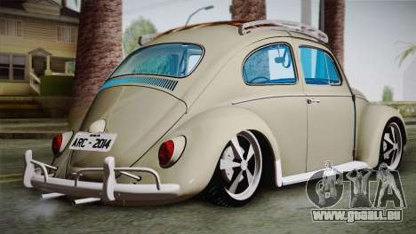 Volkswagen Fusca 1974 pour GTA San Andreas laissé vue