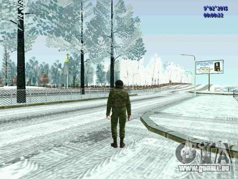 Combattant de la MIA en hiver uniformes pour GTA San Andreas deuxième écran