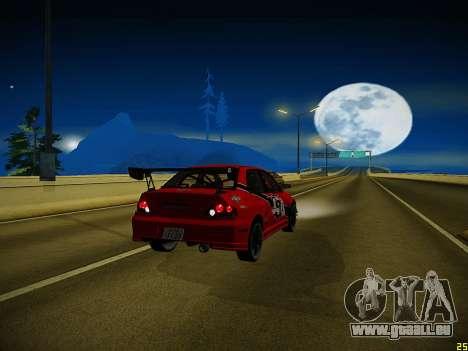Mitsubishi Lancer Tokyo Drift für GTA San Andreas Unteransicht