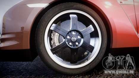 Nissan R35 GT-R V.Spec 2010 für GTA 4 Rückansicht