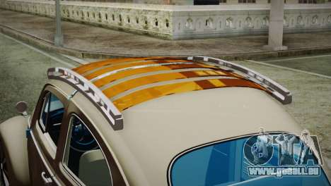 Volkswagen Fusca 1974 für GTA San Andreas Rückansicht