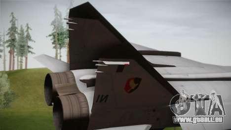 MIG 31 Estovakian Air Force pour GTA San Andreas sur la vue arrière gauche