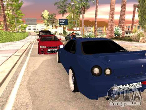 Nissan Skyline pour GTA San Andreas vue de droite