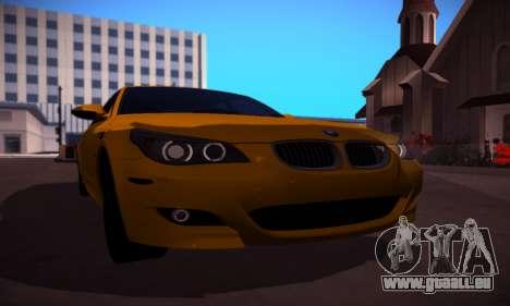 BMW M5 Gold für GTA San Andreas zurück linke Ansicht