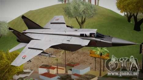 MIG 31 Estovakian Air Force pour GTA San Andreas