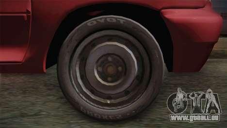 SAIPA Pride 111 pour GTA San Andreas sur la vue arrière gauche