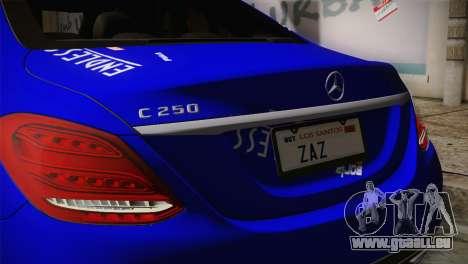 Mercedes-Benz C250 AMG Edition 2014 SA Plate pour GTA San Andreas vue arrière
