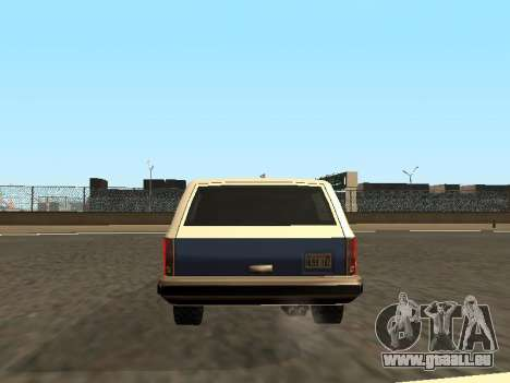 Rancher Four Door pour GTA San Andreas salon
