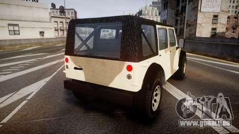 GTA V Canis Crusader pour GTA 4 Vue arrière de la gauche
